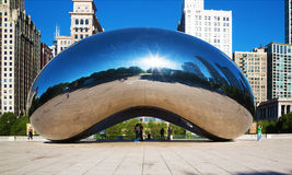 Simple beauty of Cloud Gate in Chicago Royalty Free Stock Photo