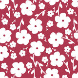 Simple and beauty flower seamless pattern. Vector Stock Images