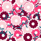 Simple and beauty flower seamless pattern. Vector illustration good for textile or paper wrapping print. Can be copied without any Royalty Free Stock Images