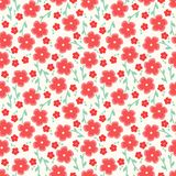 Simple and beauty flower seamless pattern. Vector illustration good for textile or paper wrapping print.Can be copied Stock Photo
