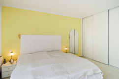 Simple bedroom royalty free stock image
