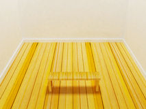 A simple bench in the room Stock Photography
