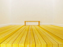A simple bench in the room Royalty Free Stock Images