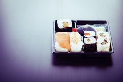 Simple bento sushi box Stock Photography