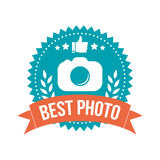 Simple Best Photo Banner Tag Stock Photography