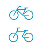 Simple bicycle icons Royalty Free Stock Image