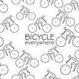 Simple bicycle line seamless pattern Royalty Free Stock Photo