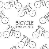 Simple bicycle line seamless pattern Royalty Free Stock Images