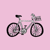 Simple Bike. This is line art, Created form my hand drawn royalty free illustration