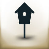 Simple bird house. Simple symbolic image of an bird house Stock Photo
