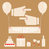 Simple birthday party in retro style Royalty Free Stock Photos