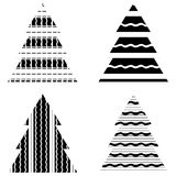 Simple Black Christmas Tree Icon Set Royalty Free Stock Images