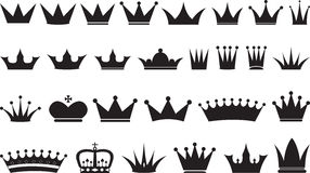 Simple black crowns Stock Photos