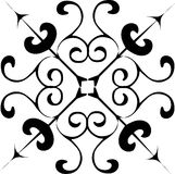 Simple black decoration Royalty Free Stock Photography