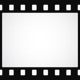 Simple black film strip background. Vector illustration Royalty Free Stock Photos