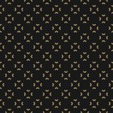 Simple black and gold abstract floral pattern. Royal background. Stock Photography