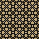 Simple black and gold geometric vector seamless pattern. Black and gold geometric vector seamless pattern. Ornamental texture with simple shapes, circles and Stock Photography