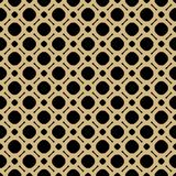 Simple black and gold geometric vector seamless pattern. Black and gold geometric vector seamless pattern. Ornamental texture with simple shapes, circles and Stock Images