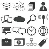 Simple black icon set 11 Stock Images