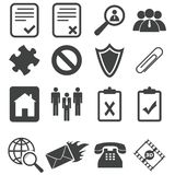Simple black icon set 14. Simple black vector icon set, variant 14, isolated on white Royalty Free Stock Photos