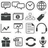 Simple black icon set 13 Stock Photo