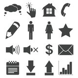 Simple black icon set 2 Royalty Free Stock Photography