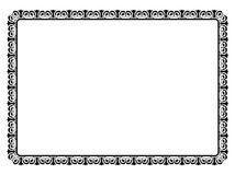 Simple black ornamental decorative frame Royalty Free Stock Image