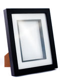 Simple black photo frame. Simple empty and black photo frame. Isolated on white Royalty Free Stock Photo