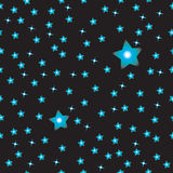 Simple black sky with stars pattern Stock Photo