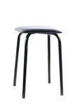 Simple black stool. Isolated on white background Stock Photos