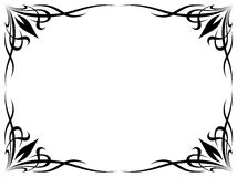 Simple black tattoo ornamental decorative frame Royalty Free Stock Image