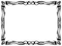 Simple black tattoo ornamental decorative frame. Vector simple black tattoo ornamental decorative frame isolated Royalty Free Stock Images
