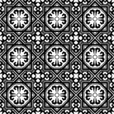 Black and white arabic geometric seamless pattern, vector. Simple black and white arabic geometric seamless pattern, vector background, texture royalty free illustration