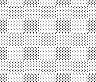 Simple black and white doted squares geo seamless pattern, vector royalty free illustration
