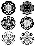 Simple Black and White Flowers royalty free illustration
