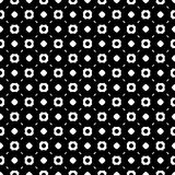 Simple black and white geometric seamless pattern. Vector monochrome seamless pattern, dark abstract endless background. Black & white illustration with simple Royalty Free Stock Images