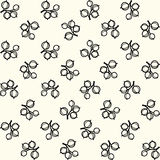 Simple black and white gooseberry pattern Royalty Free Stock Photos