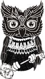 Simple black and white owl Royalty Free Stock Photography