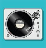 Simple black and white turntable vector illustration Stock Image