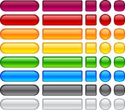 Simple blank buttons. Stock Photo