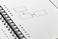 Simple blank chart sketched on notebook Royalty Free Stock Images