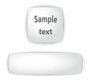 Simple  blank convex web buttons Royalty Free Stock Images
