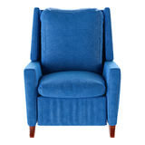 Simple blue armchair isolated. Front view. 3d stock image