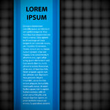 Simple blue banner with header and text. Stock Photography