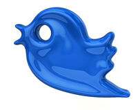 Simple blue bird icon. 3d illustration of simple blue bird Stock Image
