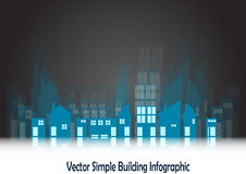 Simple blue buildings Stock Image