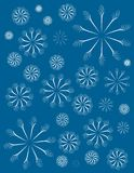 Simple Blue Decorative Xmas Background Stock Photo