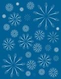 Simple Blue Decorative Xmas Background Stock Photo