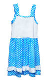 Simple blue dress for girl on white background Stock Image