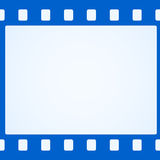 Simple blue film strip background. Vector illustration Royalty Free Stock Photo